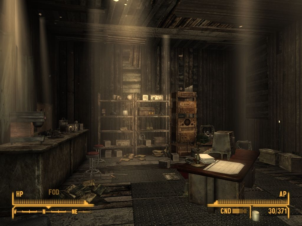 Fallout: New Vegas - Old World Blues Windows Inside camp's guard tower.