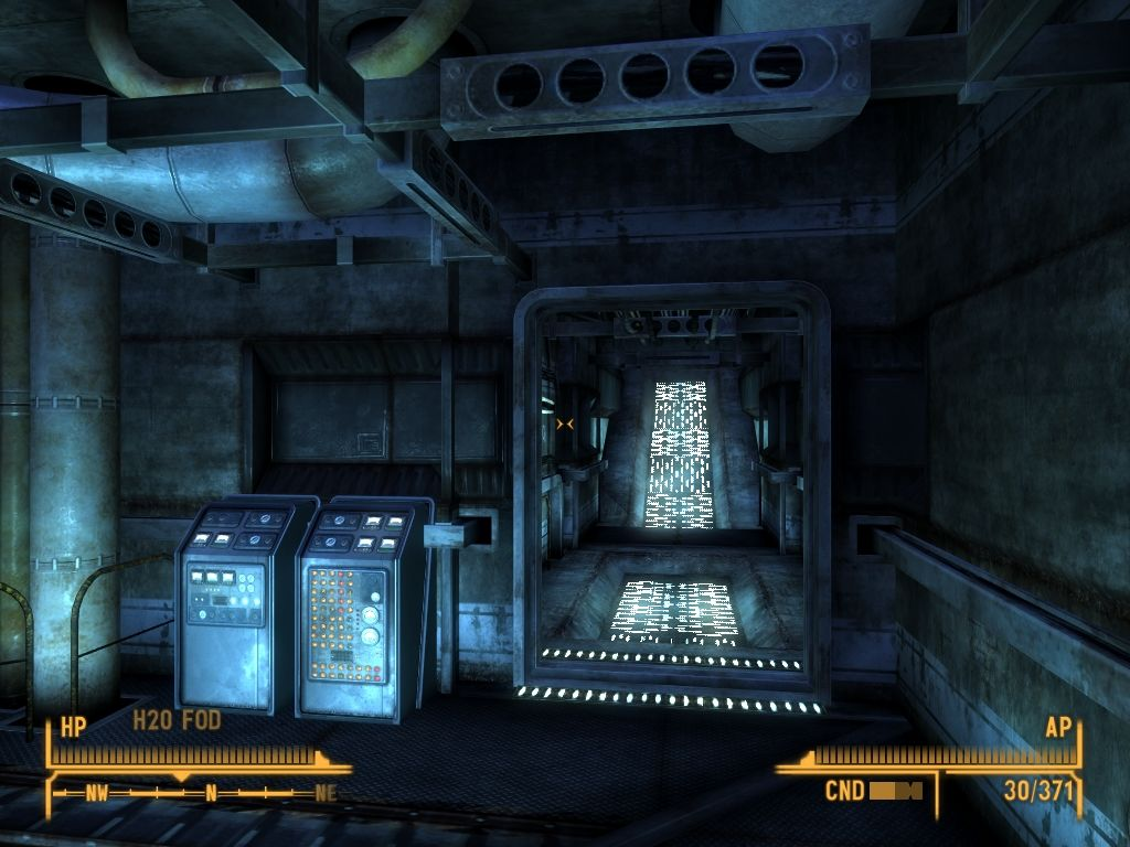 Fallout: New Vegas - Old World Blues Windows Corridor to the Sink Tank