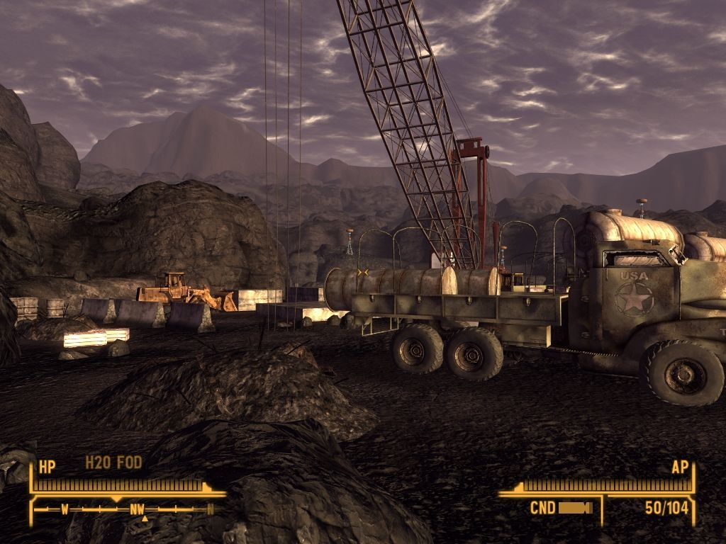 Fallout: New Vegas - Old World Blues Windows Nuclear war forced workers to abandon constructions.