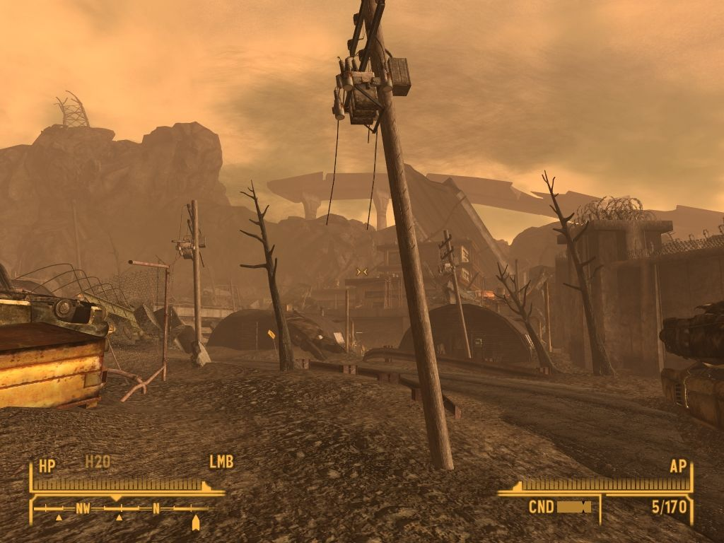 Fallout: New Vegas - Lonesome Road Windows Lifeless irradiated streets.