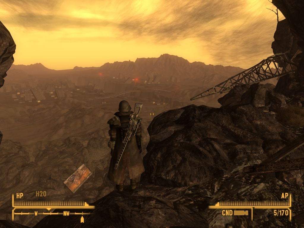 Fallout: New Vegas - Lonesome Road Windows Overlooking the Divide.