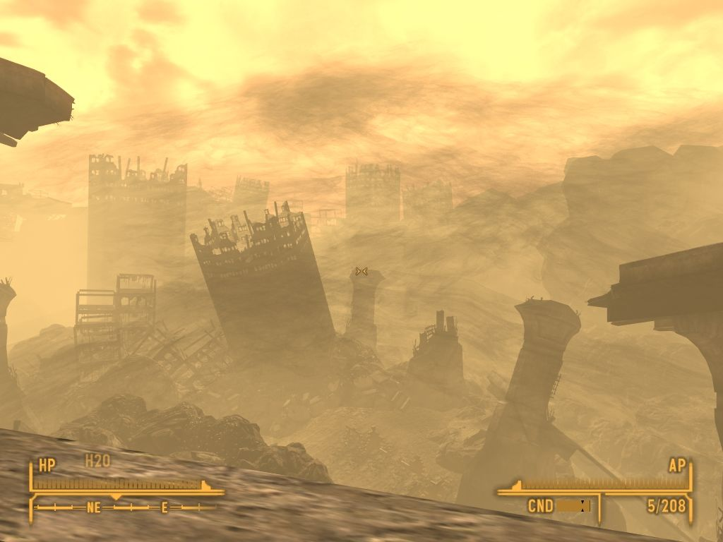 Fallout: New Vegas - Lonesome Road Windows Dead city.