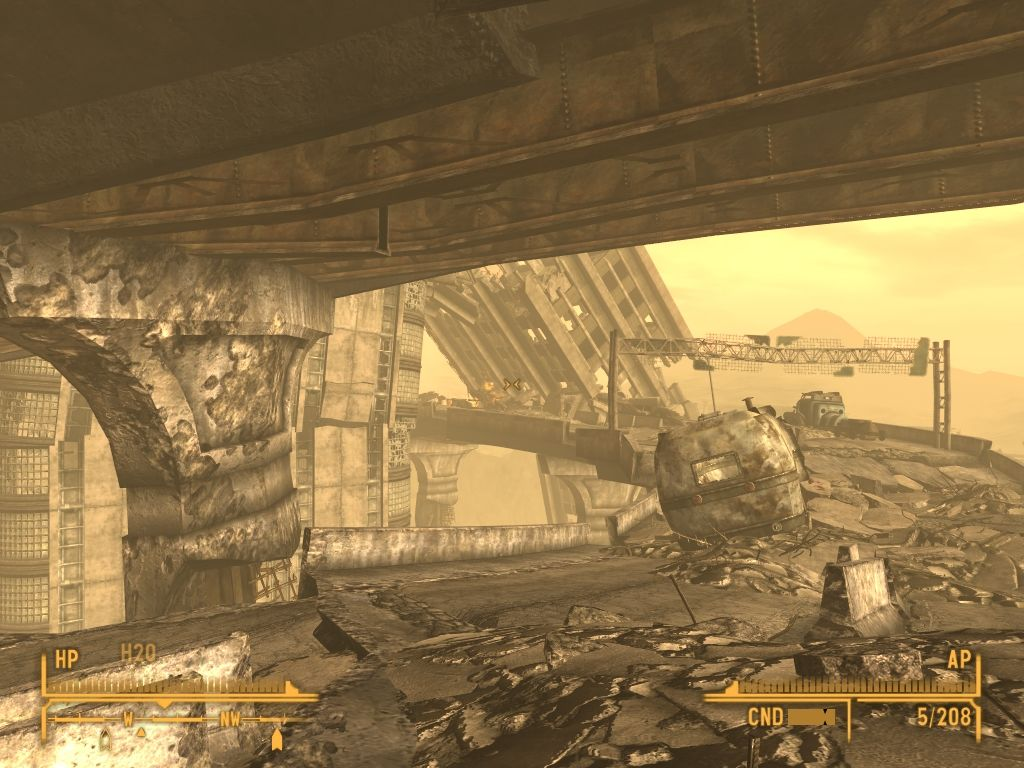 Fallout: New Vegas - Lonesome Road Windows Walking such damaged runway is a suicide.