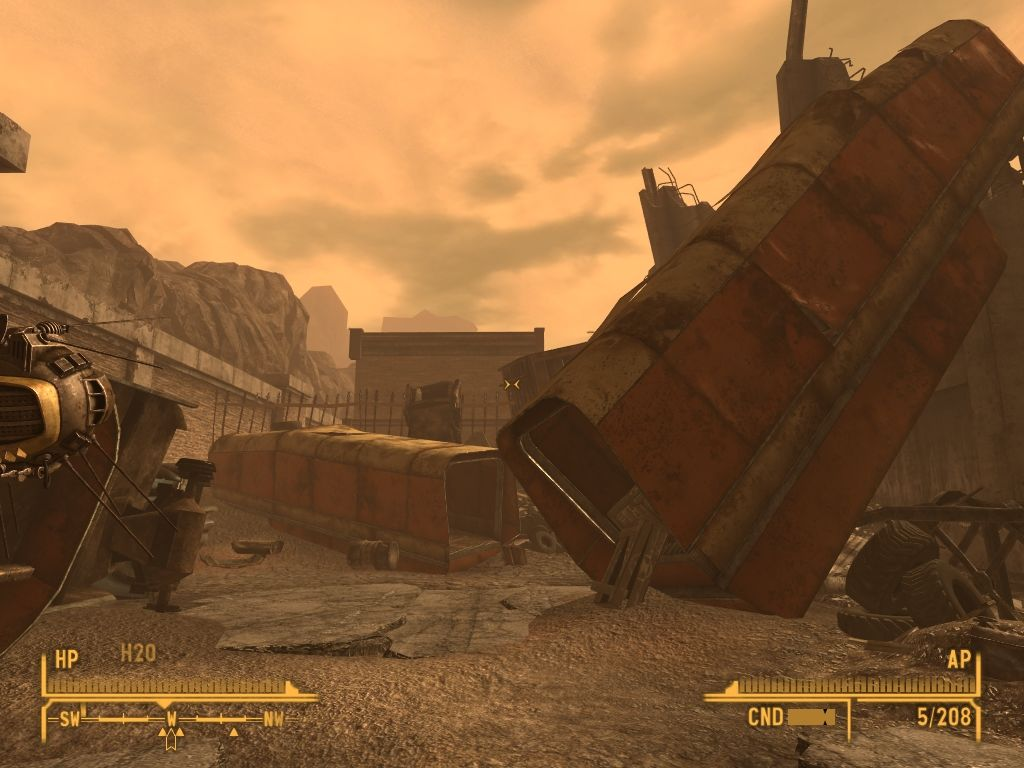 Fallout: New Vegas - Lonesome Road Windows Military supply depot. Many crates still have their deadly cargo.