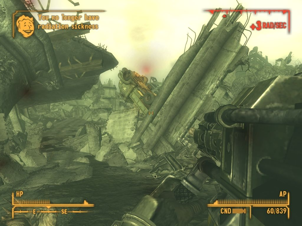 Fallout: New Vegas - Lonesome Road Windows Finding the way through tons of concrete.