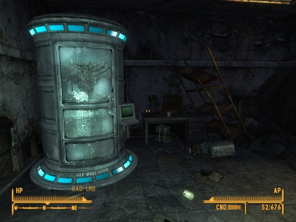 Fallout: New Vegas - Lonesome Road Windows Old Autodoc is the only one way to get medical services in Divide if you ran out of med supplies.