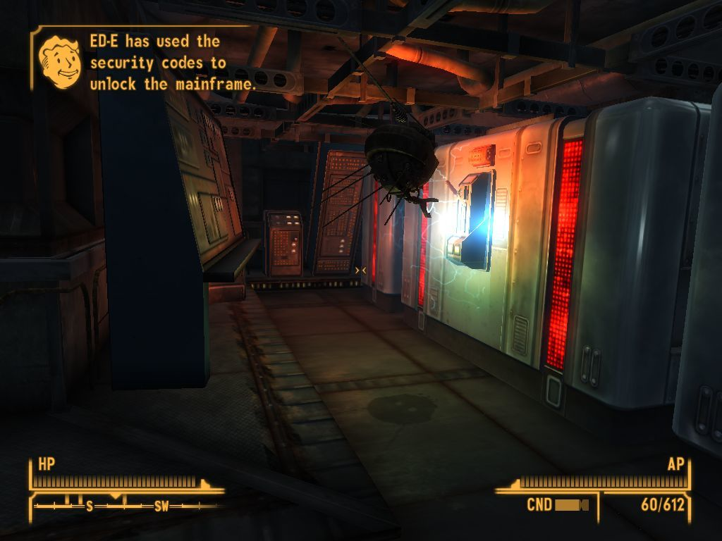 Fallout: New Vegas - Lonesome Road Windows Utilizing ED's ability to hack.