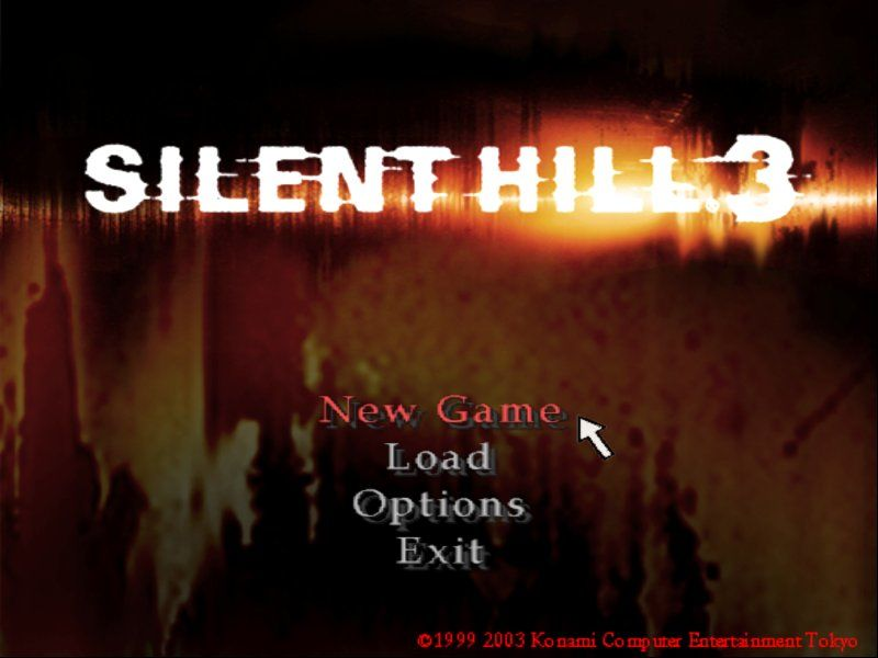 Silent Hill 3 Windows The main menu looks as crappy as in the rest of the series.