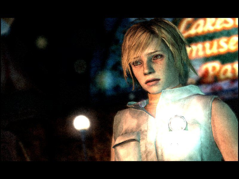 Silent Hill 3 Windows You know you're in a Silent Hill game when... your character holds a flashlight in his/her chest pocket. And the floor of an amusement park is made of grating over bottomless pits.