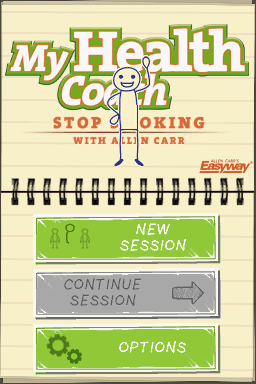 My Stop Smoking Coach: Allen Carr's EasyWay Nintendo DS Title screen / Main menu