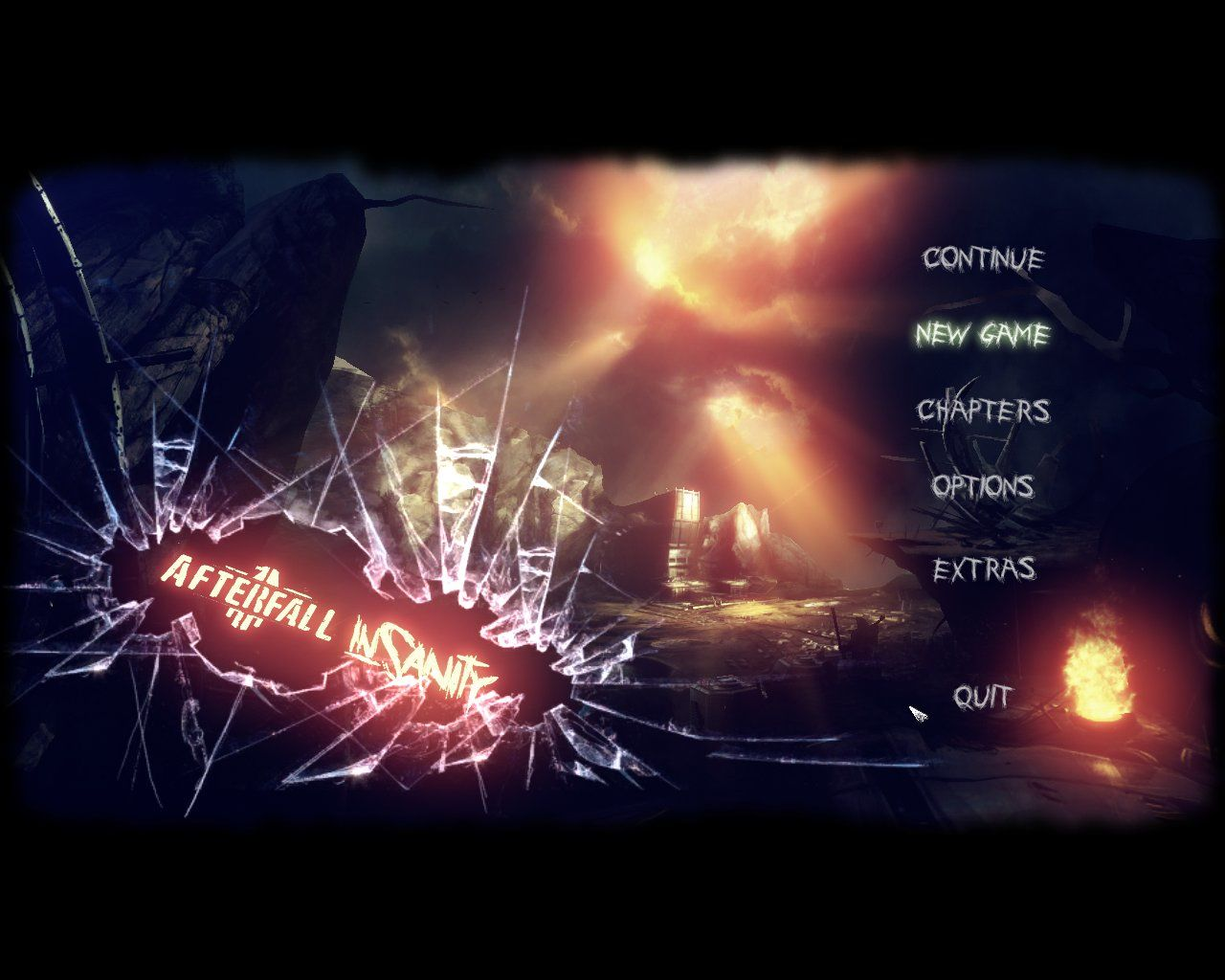 Afterfall: InSanity Windows Main menu