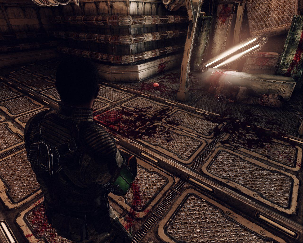 Afterfall: InSanity Windows Blood is never applied too sparingly in this game.