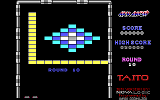 Arkanoid DOS Round 10 (Demo mode)