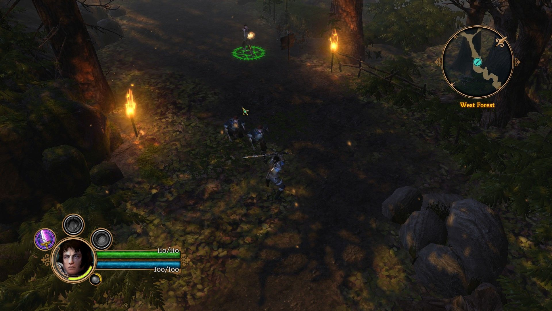 Dungeon Siege III Windows Fighting mercenaries