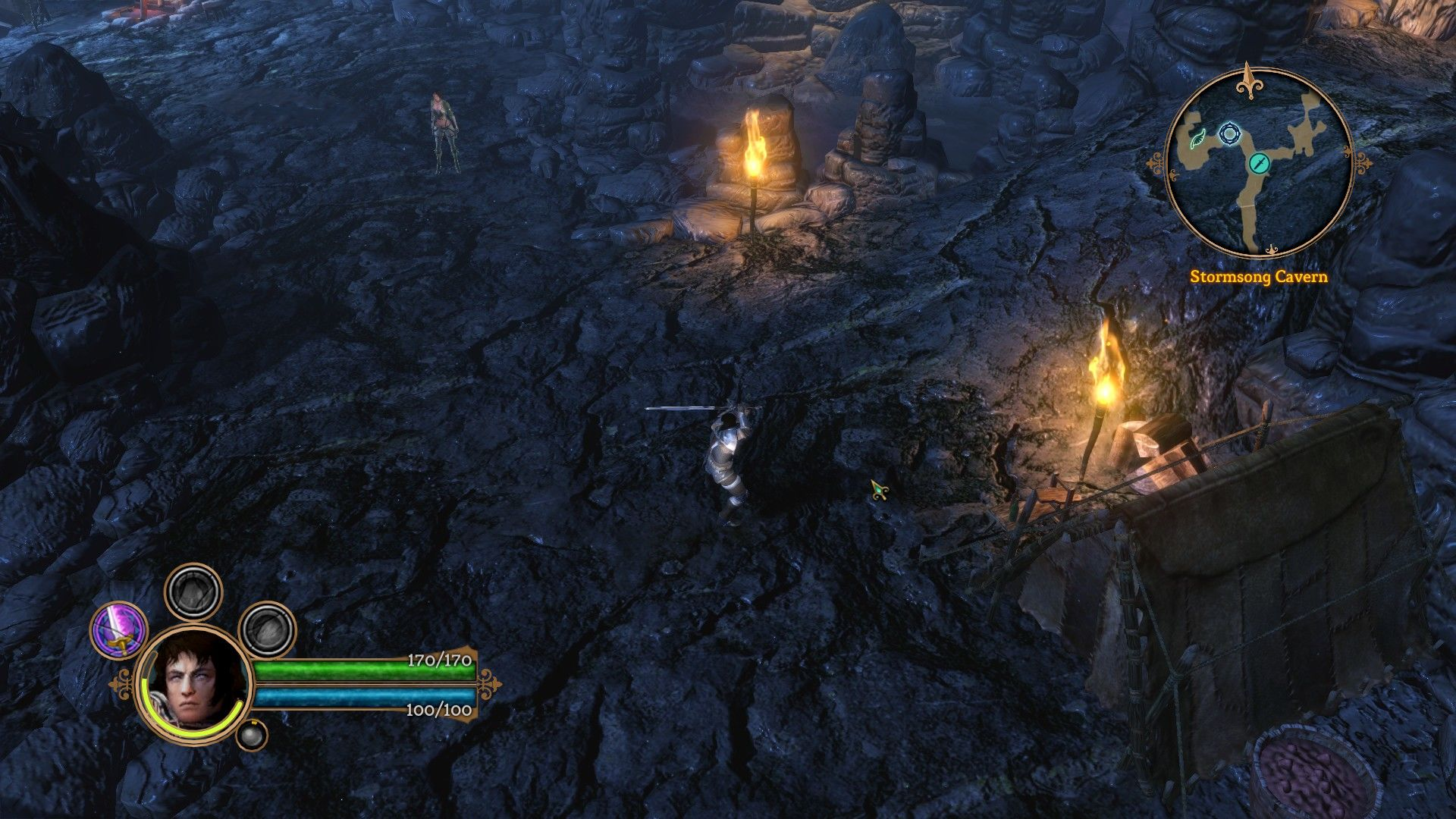 Dungeon Siege III Windows Inside Stormsong Cavern