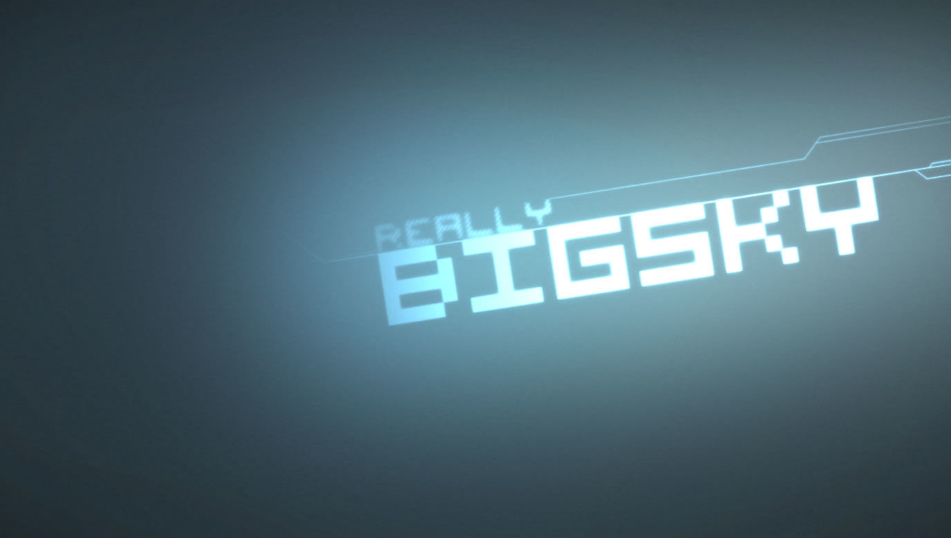 Really Big Sky Windows Title screen