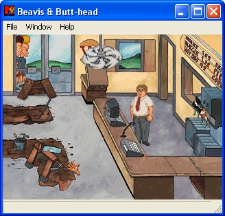 MTV's Beavis and Butt-Head in Virtual Stupidity Windows Get A Job