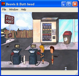 MTV's Beavis and Butt-Head in Virtual Stupidity Windows Get freaky with the gas station