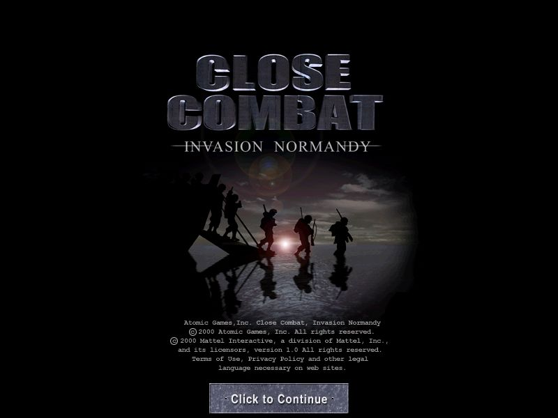 Close Combat: Invasion: Normandy - Utah Beach to Cherbourg Windows Title Screen