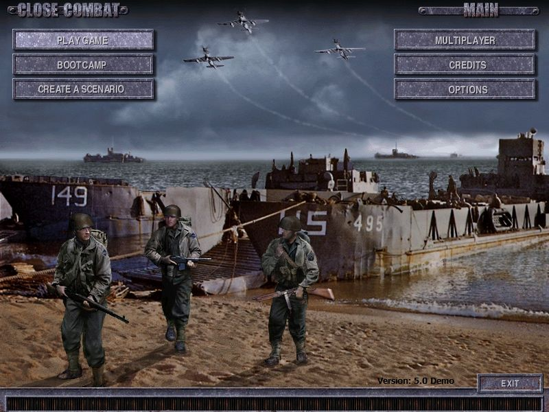 Close Combat: Invasion: Normandy - Utah Beach to Cherbourg Windows Main Menu (Demo)
