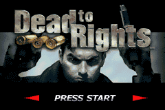 Dead to Rights Game Boy Advance Title screen