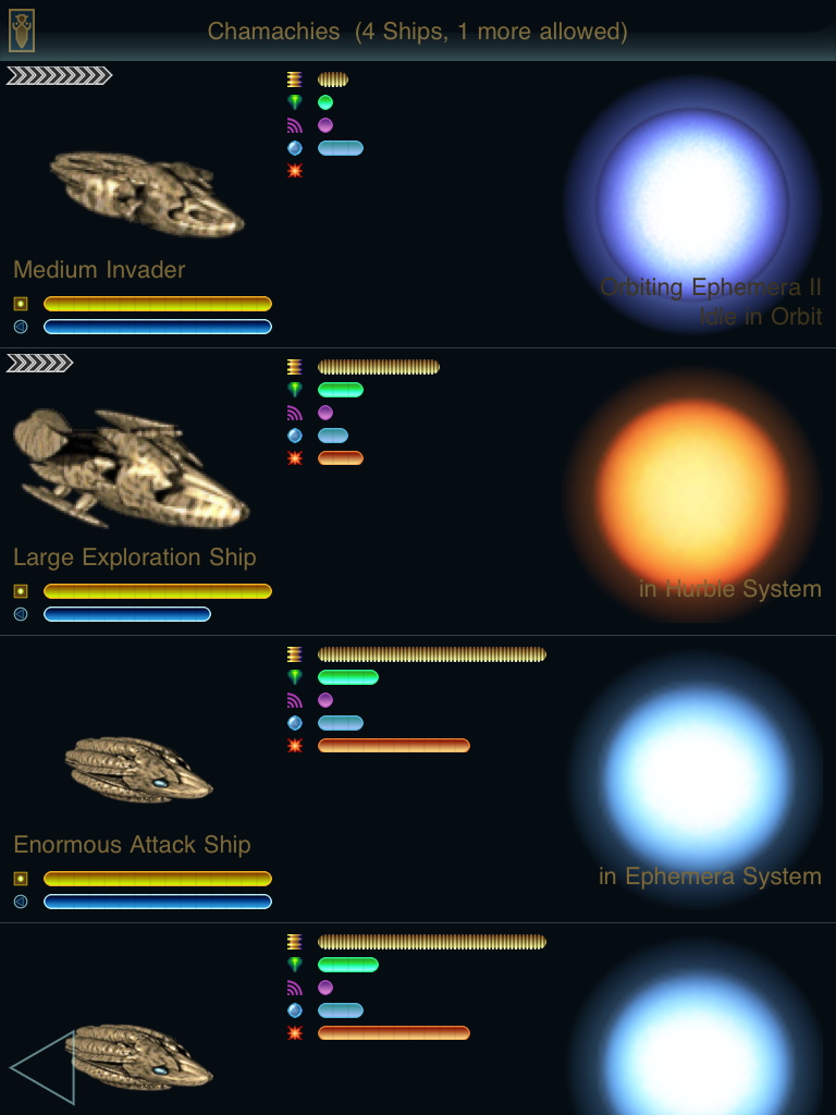 Ascendancy iPad Reviewing my starships.