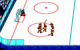 Blades of Steel DOS Goal! (EGA)