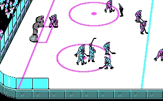Blades of Steel DOS Goal (CGA)