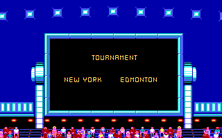Blades of Steel DOS Tournament (New York vs Edmonton) (EGA)