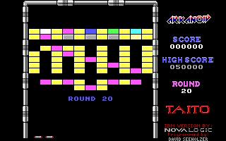 Arkanoid DOS Round 20 (Demo mode)