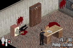 Max Payne Game Boy Advance The game doesn't shy away from showing blood. The blood stains on the wall even appear based on the angle at which you shoot the enemies.