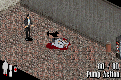 Max Payne Game Boy Advance Dying with your pants down is not exactly a dignified way to go.