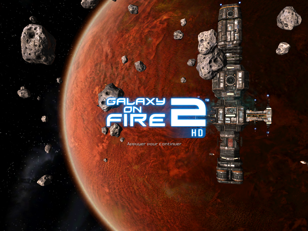 Galaxy on Fire 2 iPad Title screen