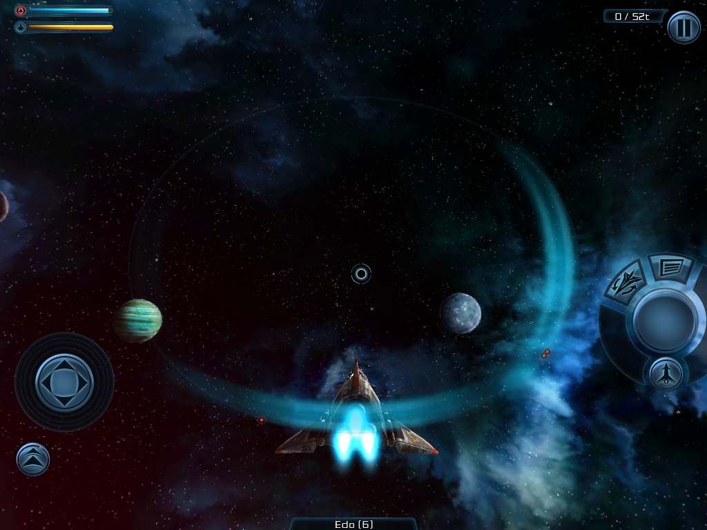 Galaxy on Fire 2 iPad These cowards are shooting my ship from behind