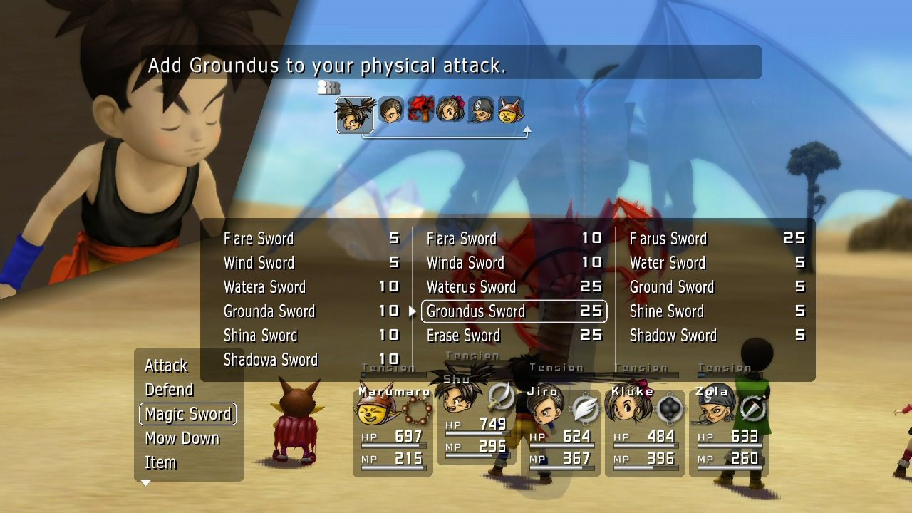 Blue Dragon Xbox 360 As you level up, your attacks and abilities will