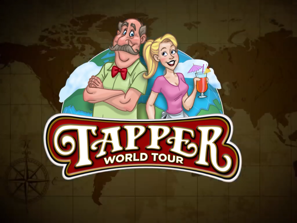 Tapper World Tour iPad Nice title card at the beginning of the Credits