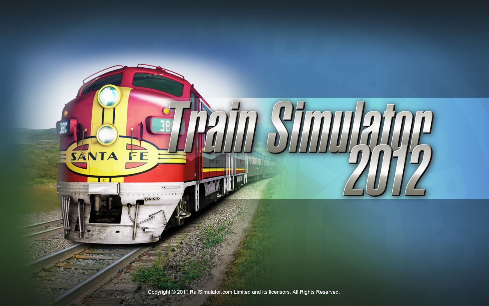 RailWorks 3: Train Simulator 2012 Windows Title screen