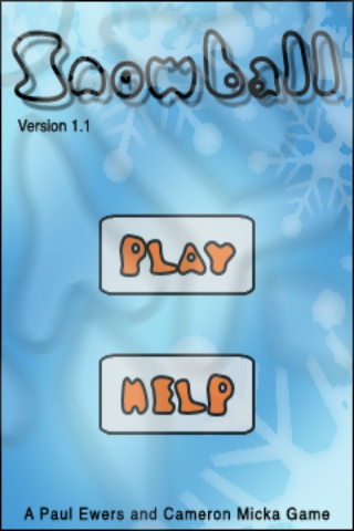 Snowball iPhone Main menu.