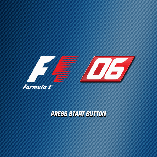 Formula One 06 PlayStation 2 Title screen.