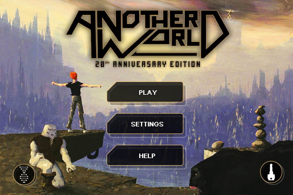 Another World: 20th Anniversary Edition iPhone Main menu