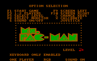 Ms. Pac-Man PC Booter Game Option