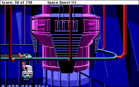 Space Quest III: The Pirates of Pestulon Macintosh Aboard the Grabber