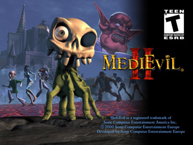 MediEvil II PlayStation Start Up Splashscreen: Pretty nice still picture.