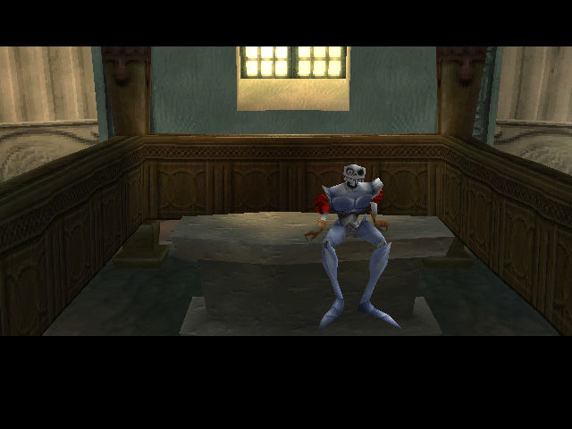 MediEvil II PlayStation In Game: Waking up in the museum.