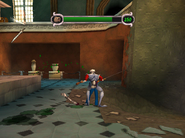 MediEvil II PlayStation In Game: Luckily, you get the sword pretty quick and it works great for slashing zombies.