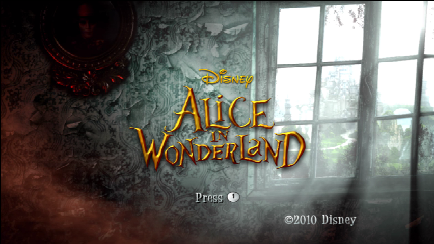 Alice in Wonderland Wii Title Screen