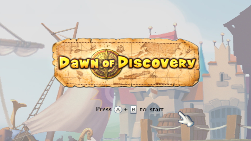 Dawn of Discovery Wii Title Screen