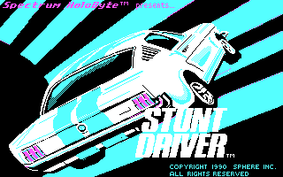 Stunt Driver DOS Title Screen (CGA)