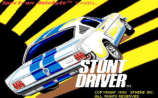 Stunt Driver DOS Title Screen (VGA 16 colors)