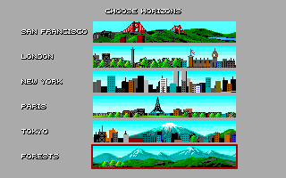 Stunt Driver DOS Choose Horizons (VGA 256 colors)